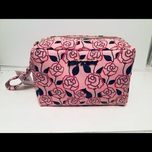 Betsy Johnson Double Zip Large Cosmetic Bag